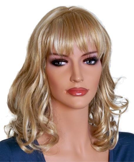 Perücke für die Frau gelocktes Haar Blond Mix 50 cm 'BL017'