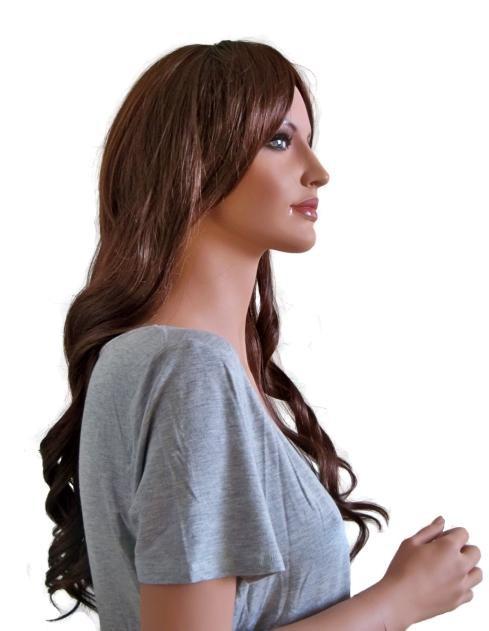 Perücke für Frauen kupferbraun 60 cm Länge 'BR017'