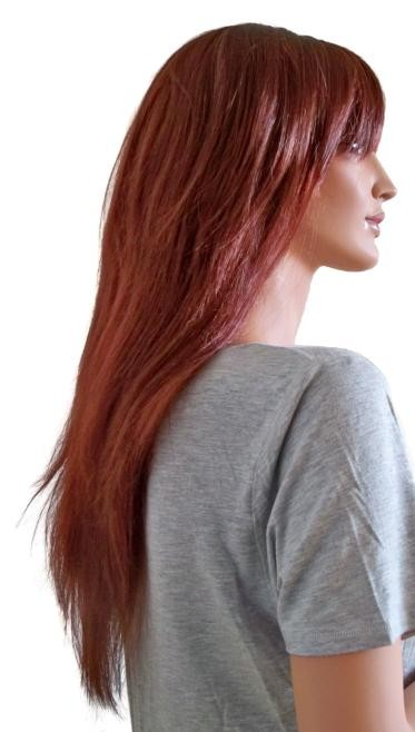 Damen Perücke Kupfer Rot Lange Haare 70 cm 'R003'