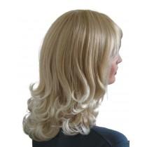 Blonde Perücke mit Platin blonden Haarspitzen 45 cm 'BL028'