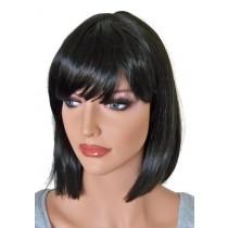 Mode Perücke schwarze Haarfarbe 'B009'