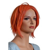Manga Perücke in hellroter Haarfarbe mit Zopf 60 cm 'CP007'