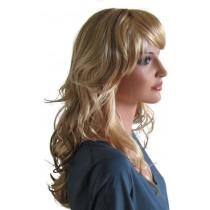 Blonde Perücke mit brünetten Haarsträhnen 60 cm 'BL027'
