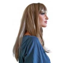 Perücke helles brünett mit blonden Haarsträhnen 55 cm 'BR020'