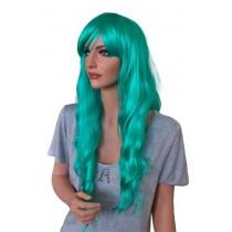 Cosplay Perücke gelocktes Haar grün 70 cm 'CP021'