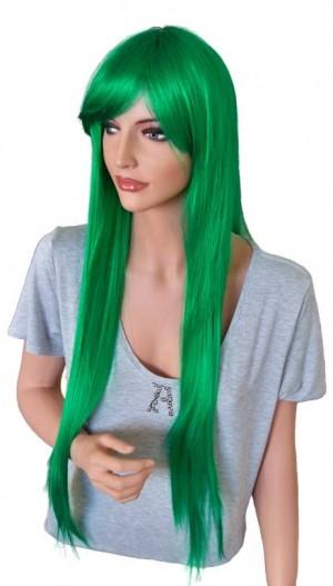Grüne Perücke für Cosplay 90 cm extra-lang 'CP010'