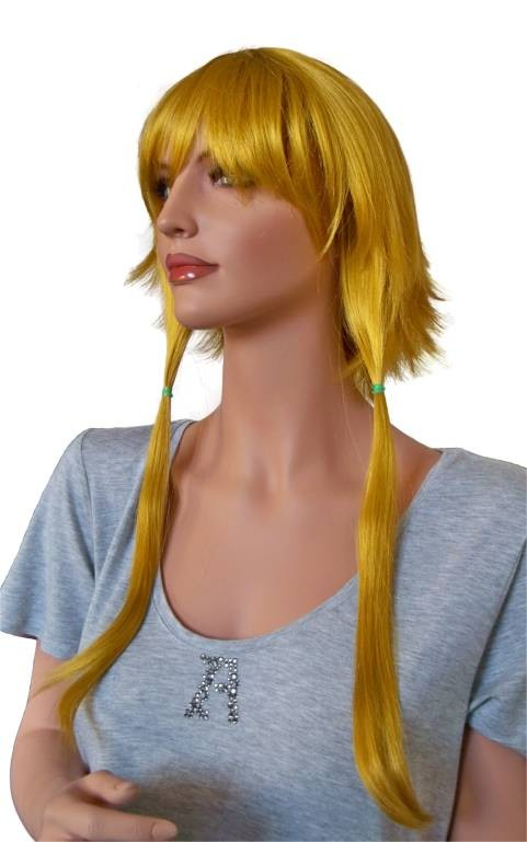 Cosplay Wig Golden Blonde with 3 Ponytails 60 cm 'CP016'