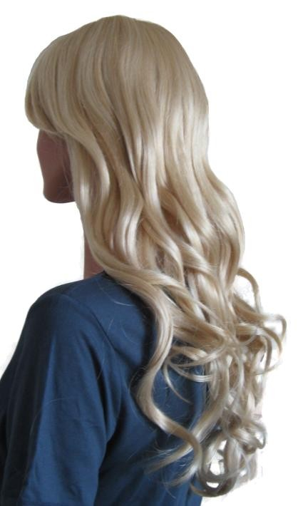 Platinum Blonde Wig Synthetic Hair 60 cm 'BL019'