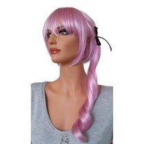 Cosplay Wig Purple White Mix with Ponytail 50 cm 'CP009'