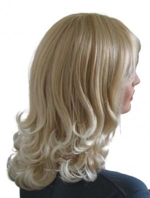 Blonde Wig with Platinum Blonde Hair Tips 45 cm 'BL028'