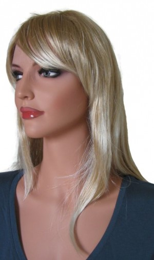 Blonde Wig with Platinum Blonde Highlights 55 cm 'BL025'