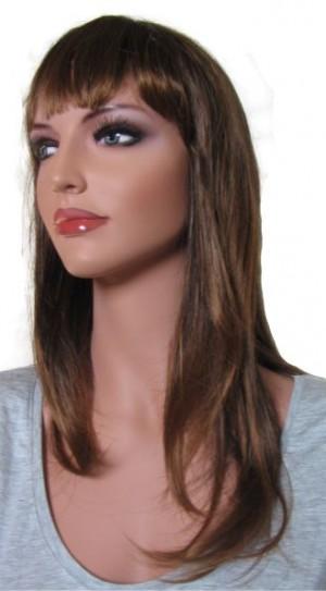 Female Wig Dark Brown Root Tipped with Medium Auburn 'BR003' 50 cm