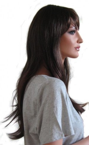 Woman Wig 'BR005' Chocolate Copper with Strawberry Blond Streaks 60cm