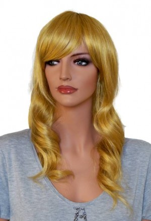 Golden Blonde Curly Wig for Cosplay 60 cm 'CP029'