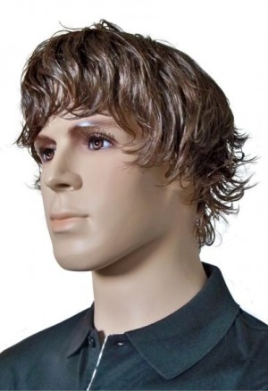 Men's Wig Brown Fashionable Hairstyle 'M003'