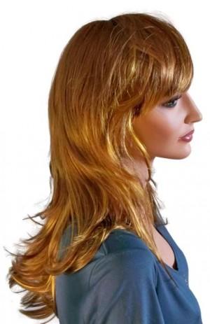 Fashion Wig Brown with Golden Blonde Strands 60 cm 'BR024'