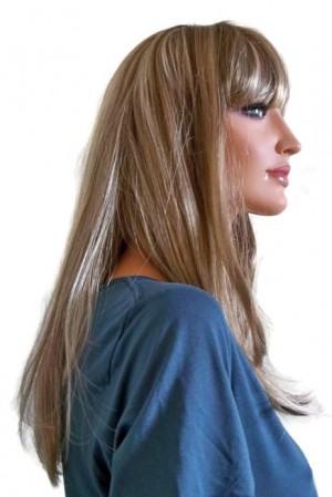 Light Brunette Wig with Blonde Highlights 55 cm 'BR020'