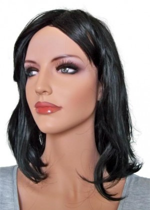 Wig Hair Color Black 40 cm 'B008'