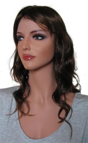 Woman Wig 'BR010' Dark Brown Root tipped with Medium Auburn 45cm