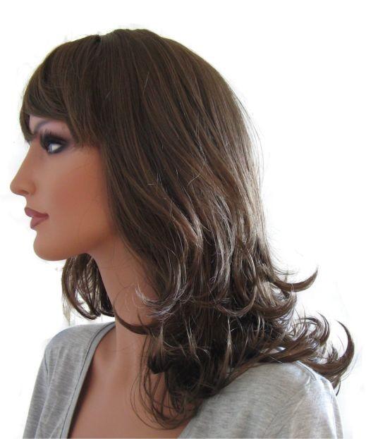 perruque femme brun cendr 39 br006 39 45cm perruque femme. Black Bedroom Furniture Sets. Home Design Ideas