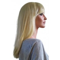 Perruque Blonde Pâle de Cheveux mi-longs 50 cm 'BL020'