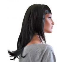 Perruque Noir Naturel 45 cm 'B007'