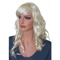Perruque Ondulée Blonde Pâle 60 cm 'BL022'