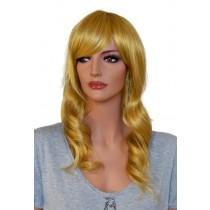 Peluca para cosplay rubia de oro ondulado 60 cm 'CP029'