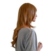 Peluca para cosplay de color marrón claro 60 cm 'CP027'