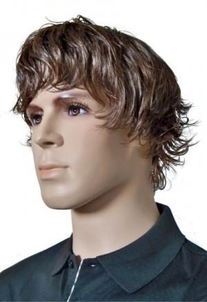 Peluca de los Hombres Marrón Peinado de Moda 'M003'