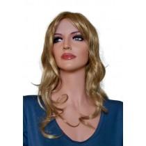 Blonde pruik krullend 70 cm 'BL031'