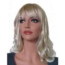 Blonde pruik met haarpunten platinablond 45 cm 'BL028'