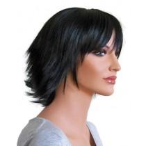 Peruca preta para cosplay corte de cabelo curto 'CP028'
