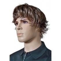 Peruca dos Homens Marrom Penteado da Moda 'M003'