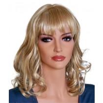 Peruka Kobieta Kręcone Włosy Mieszanka Blond 50 cm 'BL017'