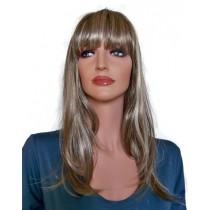 Peruka brunet z pasm włosów blond 55 cm 'BR020'