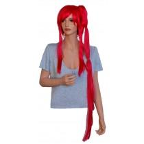 Czerwonymi peruka anime z jednym długim clip-in 'CP026'