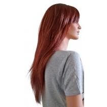 Peruka Pani Miedzi Czerwony Długie Włosy 70 cm 'R003'