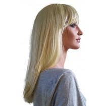 Paruka Světlé Blond Středně Dlouhé Vlasy 50 cm 'BL020'
