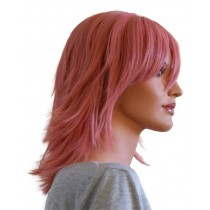 Anime peruk hårfärg gammal ros 40 cm 'CP025'