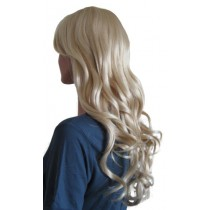 Peruk Platina Blond Syntetiskt Hår 60 cm 'BL019'