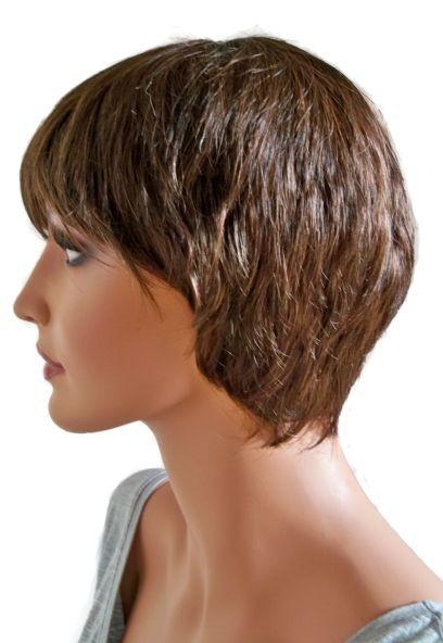 Femeie Peruca Păr Tăiat Scurt Culoare Maro şi Maro Roşcat Br011