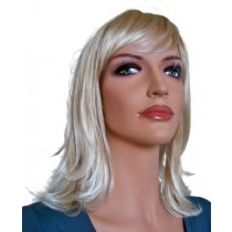 руса перука с типове коса платинена блондинка 40 cm 'BL023'