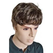 кафява перука за мъже човешки коси 'M005'