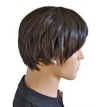 готик перука черно и тъмно кафяво 'M007'