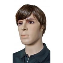 перука за мъже кратко подстригват с кафяв цвят 'M001'