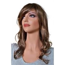 перука на изкуствена коса кафяв цвят 60 cm 'BR019'