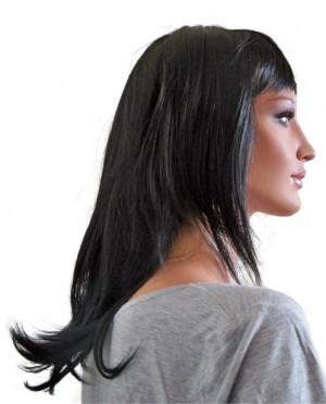 перука черен естествен 45 cm 'B007'