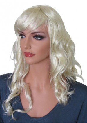 перука къдрава светло рус 60 cm 'BL022'